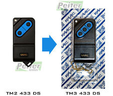 3 channel Faac TM3 433 DS remote control replacement for 2 channel TM2 433 DS