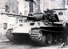"German Panther Tank in action 5""x 7"" World War II Photo 97"