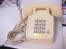 VINTAGE TELCO DESK TELEPHONE BEIGE MODEL 2503 w/cord (PHONE15-1)