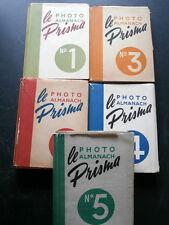 LOTTO 5 VOLUMI PHOTO ALMANACH PRISMA ANNI '50 FOTOGRAFIA- A8