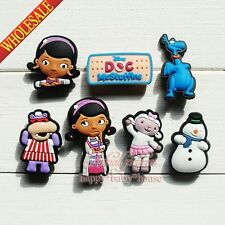 Mix 100pcs Doc McStuffins PVC Shoe Charms Shoe Buckles Fit Croc Bracelets Gifts