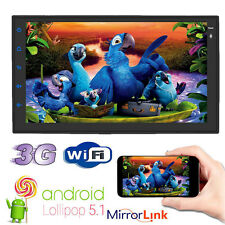 QUAD-CORE Double 2 DIN HD Android 5.1 System Car NO DVD Stereo GPS DAB+ Camera
