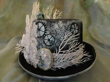OOAK Snow Queen Once Upon a Time Frozen Elsa Steampunk Top Hat - LIGHTS UP!