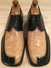 Stunning R. Martegani Boutique Mens Genuine Alligator Crocodile Dress Shoes 12 M