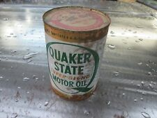 VINTAGE 1960-70S SEALED QUAKER STATE OIL CAN 20 W 30 Garage art hot rod chopper