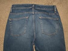 GAP Size 8 Reg Boot Cut Capri Stretch Denim Dark Blue Womens Jeans
