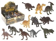 PACK OF 6 KIDS CHILDRENS ASSORTED DINOSAURS PLASTIC PVC TOY JURASSIC FIGURES