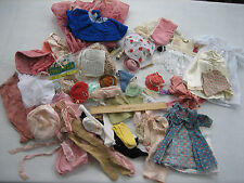 Mixed Lot Of Vintage Larger Size Doll Clothes,  Accessories - Hats, Wigs, Socks