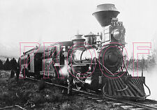 "Denver, South Park & Pacific (DSP&P) Engine 157 the ""Morrison"" in 1887 - 8x10"