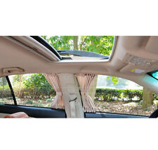 2PCS 50X39cm Beige VIP CAR WINDOW CURTAIN SUNSHADE 50S Universal