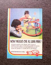 K842-Advertising Pubblicità-1984- HOT WHEELS , MEGLIO CHE AL LUNA PARK