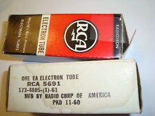 One Matched Pair RCA Red Base   5691 Tubes, New In Box