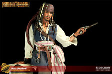 EXCLUSIVE SIDESHOW PIRATES OF THE CARIBBEAN JACK SPARROW PREMIUM FORMAT FIGURE