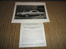1961 BUICK LESABRE HARDTOP PRESS RELEASE PHOTO W/PRESS SHEET ORIGINAL
