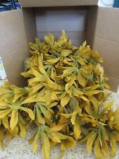 880 Wholesale Artificial Leaf Fake GOLD Leaves Wedding Silk Flower Craft DIY