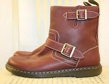 DOC MARTEN Air Wair Red Leather Comfort Ankle Boot 9M 42EU 8UK 10W NEW