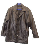 MEN`S BLACK REAL LEATHER JACKET BY BARONJON CONTEMPORARY MAN SIZE M  (M-21)