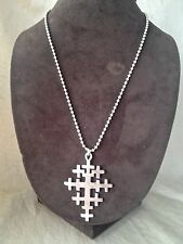 Vintage Signed 1988 Robert Lee Morris Sterling Silver Multi- Cross Necklace