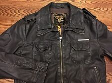 Superdry Japan Brad Leather Bomber Jacket - Size Large