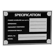 Adam Hall 5800 speaker moniteur cabinet spécification tag plaque signalétique ukmaindealer