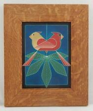 Framed Arts and Crafts Motawi 6x8 Ford Times Charley Harper Tile E984