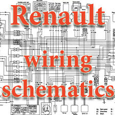 RENAULT WIRING DIAGRAMS SCHEMATICS ELECTRIC cd dvd