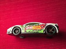 Ferrari 458 Italia, Pearl White on Gree 5 Spoke Rims  Team Hot Wheels Loose Used
