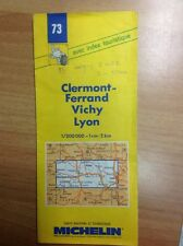 GUIDA STRADALE CARTE ROUTIERE MICHELIN FRANCE 73 CLERMONT VICHY LYON 1993