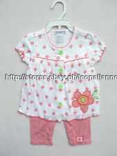 63% OFF MON CARAMEL BABY FLOWER PATCH TOP LEGGINGS SET 0-3 MOS COTTON TBH490