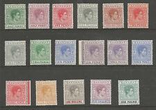 BAHAMAS SG149-157 THE 1938-52 GVI SET OF 17 FRESH MOUNTED MINT  CAT £150 MINIMUM
