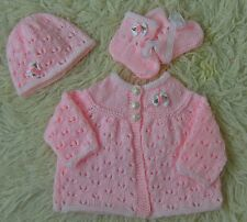 Dk baby knitting pattern not clothes knit girls cardigan hat bootees isabella
