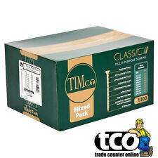 TIMco Classic Yellow Pozi Multi Purpose Mixed Size Screw Pack (1400 Screws)