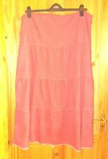 BODEN sorbet coral pink corduroy long flared gypsy boho riding skirt 20L 48