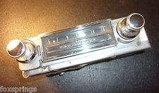 1963 Chevy AM Radio With Knobs Chrome     -  CH694