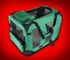 New Medium Dog Pet Puppy Portable Foldable Soft Crate Playpen Kennel House-Green