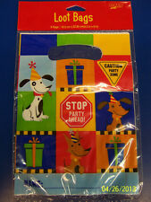 Rescue Pals Dog Construction Worker Kids Birthday Party Favor Sacks Loot Bags