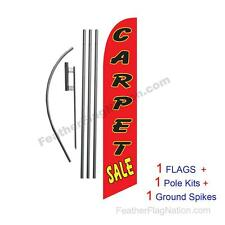 Carpet Sale 15' Feather Banner Swooper Flag Kit with pole+spike