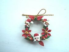 Miniature Christmas Wreath Decoration for the front door of a Dolls House