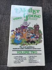 THE MOTHER GOOSE VIDEO TREASURY VOLUME 2 RARE VHS! 1987 FAIRY TALES PUPPETS!