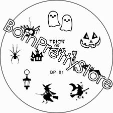 Nail Art Stamping Template Image Plate Halloween Witch BORN PRETTY 81