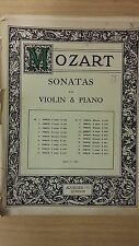 Mozart: Sonata In A Major For Violin And Piano: K402: Music Score (F4)