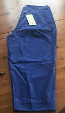 Matthew Williamson For H & m pantalones capri pantalones azul bordado EUR talla 40 size us 10