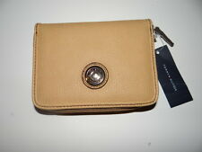 Tommy Hilfiger Women's Beige Leather Zip Around Wallet New with Tags SALE