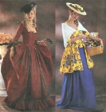 FF Uncut 12-16 Marie Antoinette 18th Century Dress Costume Sewing Pattern 3640