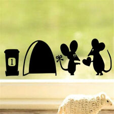 FD2453 Home Decor Craft Stickers Bedroom Toilet Wall DIY Sticker ~Cute Mouse~☆