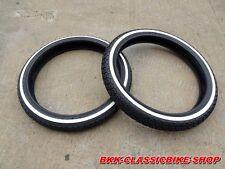 Honda SS50 C110 CA110 CL70 CT90 S65 C200 CA200 C201 F+R Tyre Tire White Wall