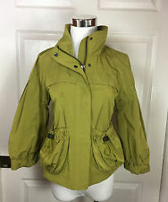 BURBERRY LONDON - GREEN WINDBREAKER/JACKET WITH PUFFED SLEEVE - SZ 6