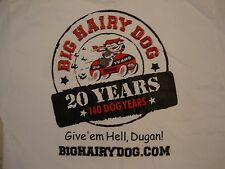 Big Hairy Dog Information Systems 20 Year Anniversary White T Shirt L