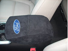 Ford Explorer 2011 16 Center Console Cover Black Embroidered Cotton Terry Velour