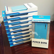 12000mAh Portable Dual USB Blue Power Bank External Battery Charger USA SELLER!